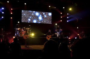 Jordan Felix, Big Daddy Weave and Plumb leading worship in Beautiful Offerings Tour, Redlands, CA, Feb. 5, 2016, Packinghouse Christian Fellowship. Photo Credit: Gerald Pierre