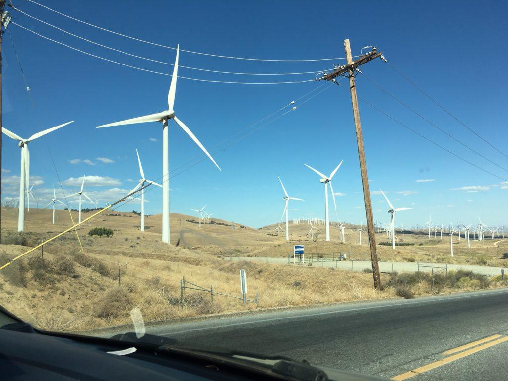 Wind Turbines Near Tehachapi, CA