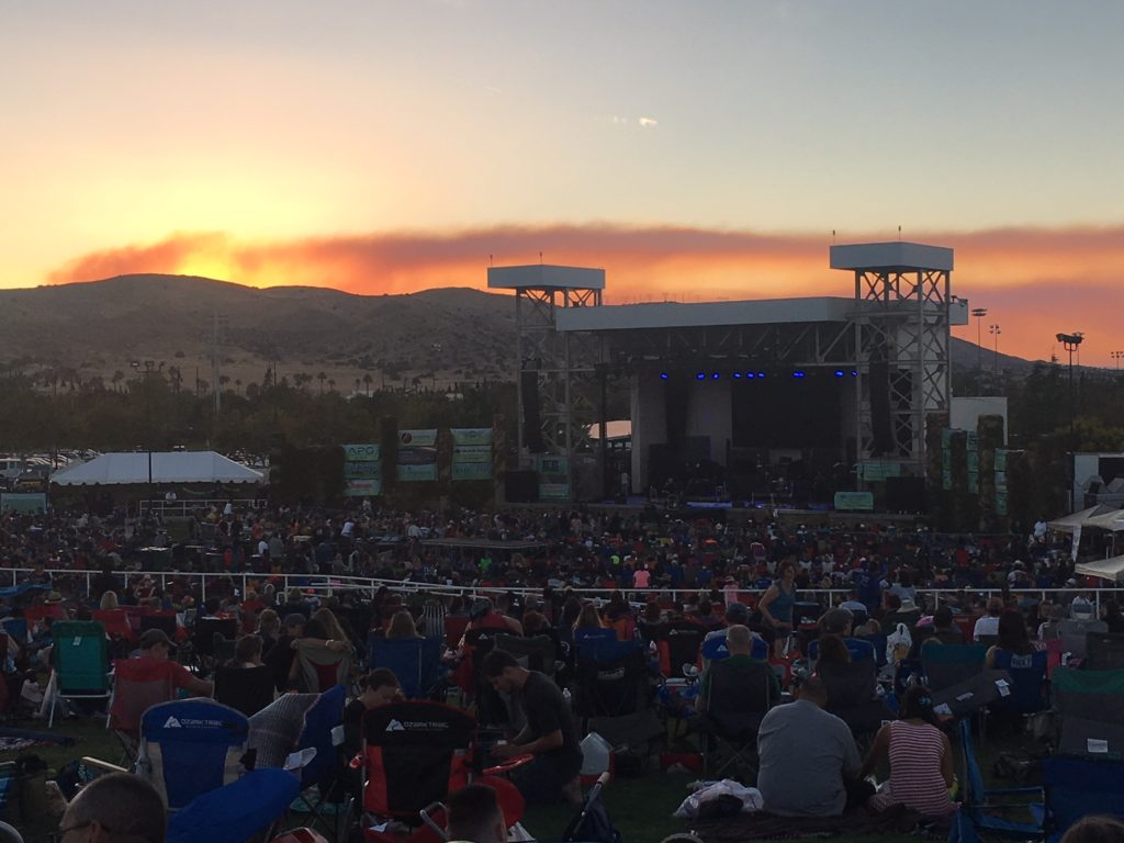 Sunset and Smoke at GraceFest 2018 in Palmdale, CA