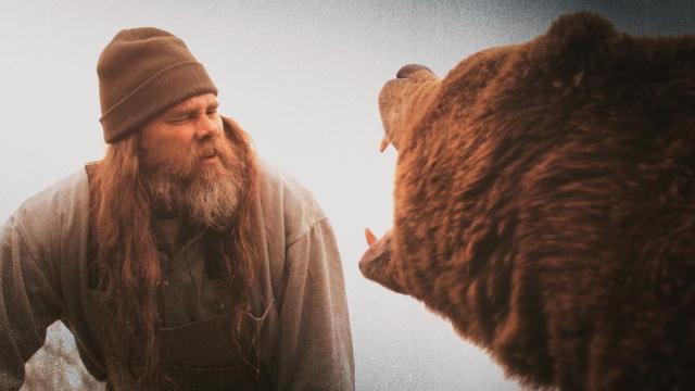 Porter Ridge And Jeff The Bear Man At Rocking Gods House