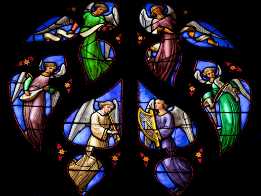 Angel Choir Stained Glass At Rocking Gods House