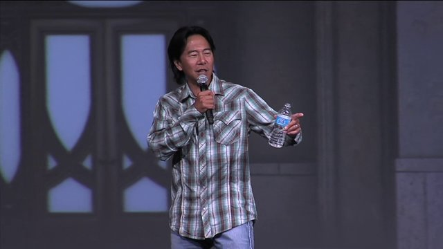 Henry Cho Comedian At Rocking Gods House
