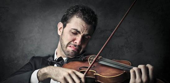 Sad Musician At Rocking Gods House