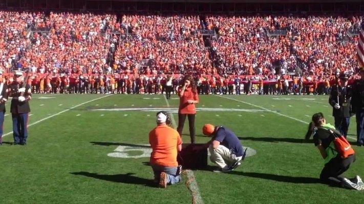 Leah Shafer Singing National Anthem at AFC Championship