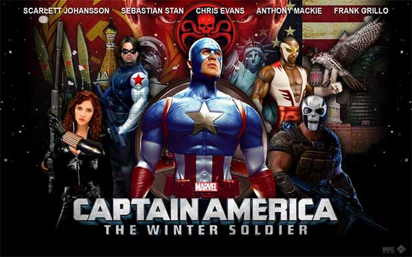 Captain America Winter Soldier At Rocking Gods House