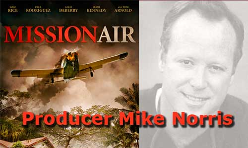 Producer Mike Norris Mission Air At Rocking Gods House