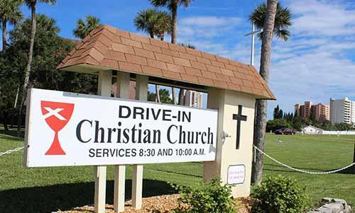 Daytona Beach Drive In Christian Church At Rocking Gods House