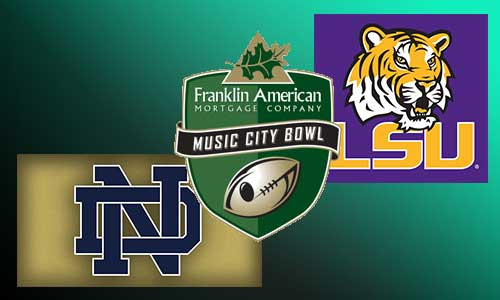 Music City Bowl LSU Notre Dame At Rocking Gods House