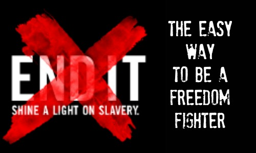 Easy Way to Be a Freedom Fighter - End It Movement article at Rocking God's House