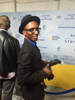 Gerald Pierre at Saints & Strangers Premiere