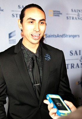 Saints & Strangers Red Carpet Premier - Tatanka Means - photo credit Gerald Pierre 2015 for Rocking God's House