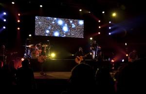 Jordan Felix, Big Daddy Weave and Plumb leading worship in Beautiful Offerings Tour, Redlands, CA, Feb. 5, 2016, Packinghouse Christian Fellowship. Photo Credit: Gerald Pierre