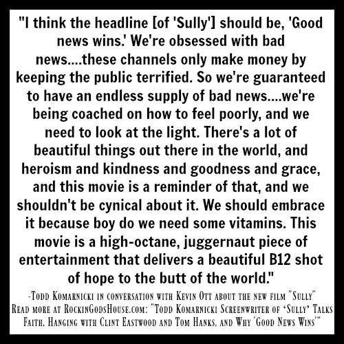 "Interview with Todd Komarnicki Screenwriter of ""Sully"" - RockingGodsHouse.com"