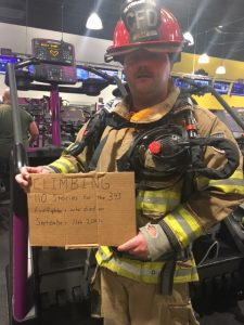 Will Craft firefighter honoring 9/11 heroes